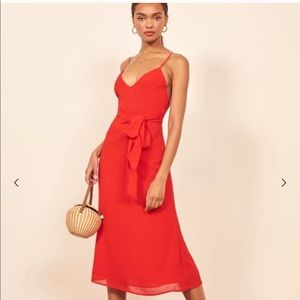 Reformation drifting dress in red sz: 0
